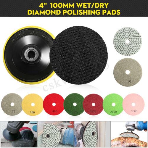 8PCS 4 Inch Wet Dry Diamond Polishing M14 Pad For Granite Stone Concrete