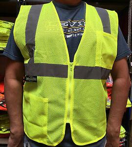Radians-2-Pockets-Green-Mesh-High-Visibility-Safety-Vest-ANSI-ISEA-107-2015