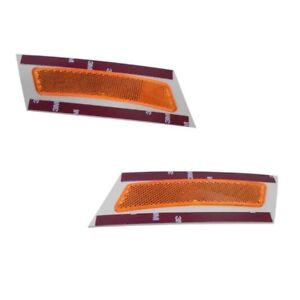 Yellow 07-10 BMW e70 GENUINE Reflector on Bumper Cover Front LEFT