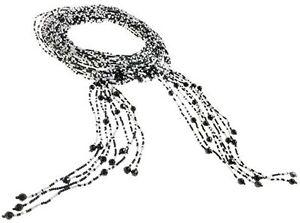 Vintage-Burlesque-Deco-Flapper-Beaded-Glass-Lariat-Scarf-Tie-Necklace-Waist-Belt