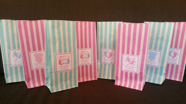 Personalised Baby Shower Gift / Favour Bags - Various Designs - Amount options