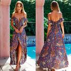 Womens Summer Boho Long Maxi Dress Evening Cocktail Party Beach Dress Sundress