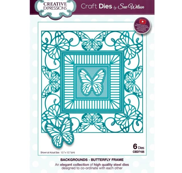 Creative Expressions Backgrounds- Butterfly Frame CED7105
