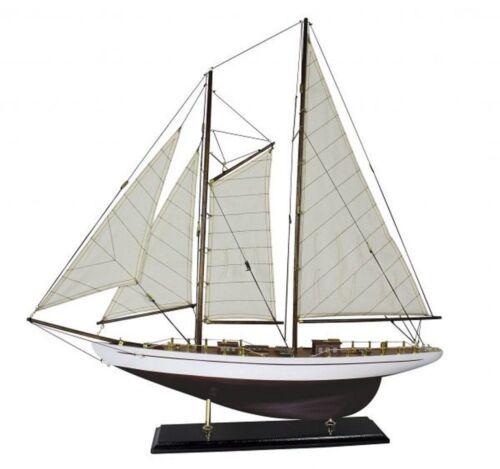 G4171: Zweimast Segelyacht Zweimaster Modell einer Segel Yacht Gaffel Yacht