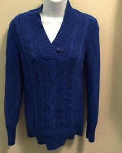 Details about Womens Faded Glory Blue Sweater Size M 8 10