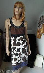 Kleid Sommerkleid Gr. 36 Gr. 38 Seide Leinen Nieten ...
