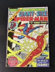 Marvel Comics GIANT-SIZE SPIDER-MAN #6, 1975  Fine (e)