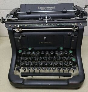 VTG Antique 1940's Underwood Standard Canada made - All Caps Typewriter - WORKS!