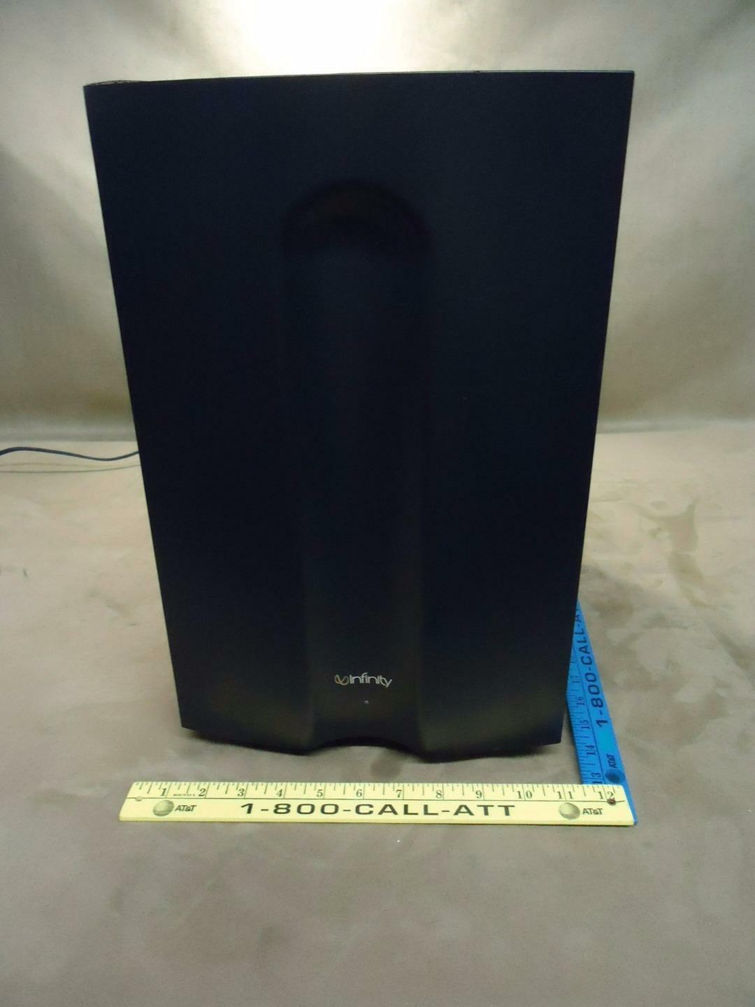 Infinity Powered SubWoofer Surround Sound Speaker Model TSS-450 - Used