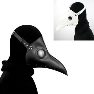 Cosplay Leather Beak Mask Plague Doctor Steampunk Bird Halloween Party Costume