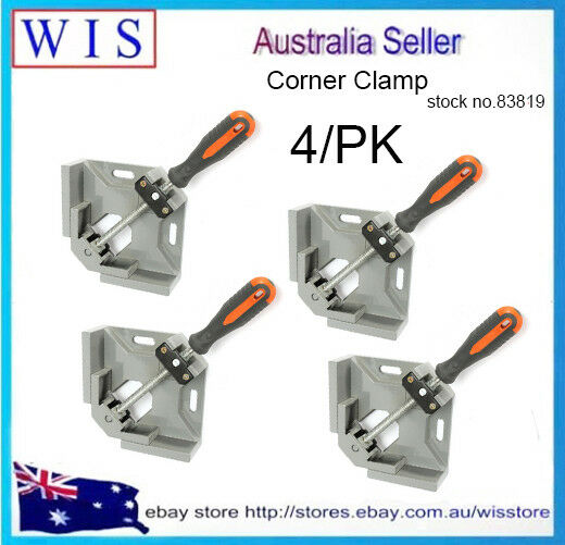 90° Corner Clamp Right Angle Woodworking Vice Wood Metal Weld Welding,4 PK-83819
