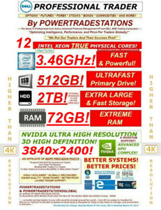 DELL-Trading-Computer-6Monitor-XeonMaxTurbo3-46GHz-480GBSSD-2TBHDD-72GBRAM-W10P