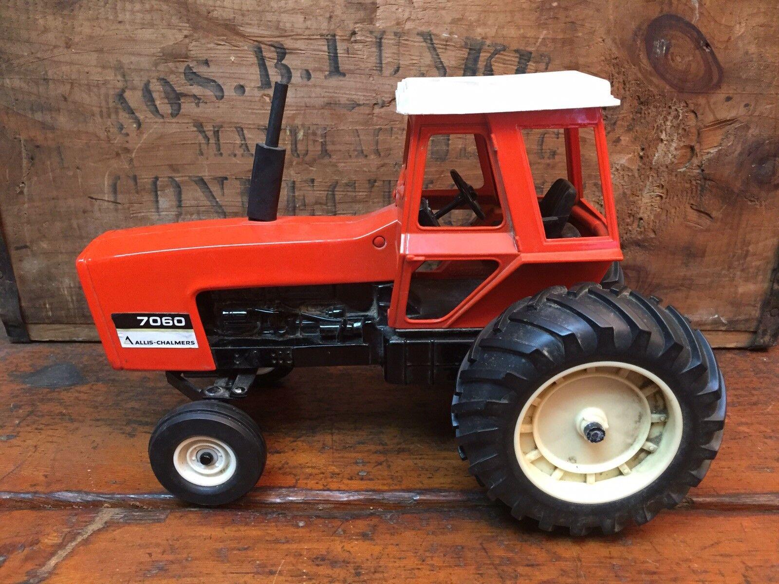 Vintage ERTL AC ALLIS CHALMERS 1  16 7060 noir ventre tracteur avec cabine  économiser jusqu'à 70%