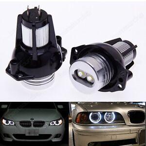 2 Ampoules BMW Angel Eyes 6W Blanc Feux de jours LED SERIE 3 E90 E91 2004-2008