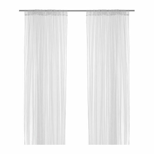 IKEA Lill Continuous White Curtain Sheer Curtains Pair Long Blind