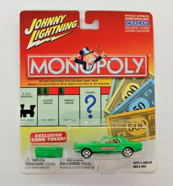 Johnny Lightning Monopoly Pacific Ave Green Mustang with Token