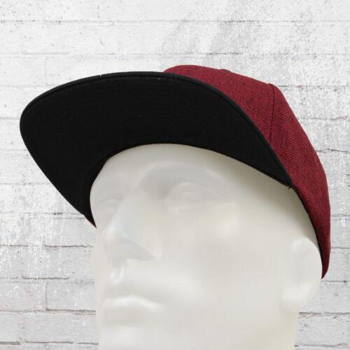 Yupoong Flexfit casquette chiné 2-Tone Snapback Cap Rouge Noir Casquette CAPI Capot