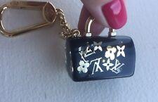 Authentic Louis Vuitton BLACK Speedy Inclusion Key Bag Charm