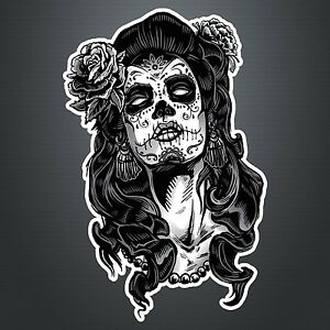 Image Is Loading DAY OF THE DEAD GIRL STICKER 5 Lady