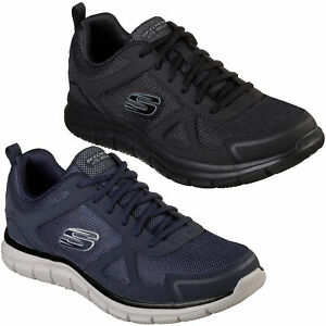 Details about Mens Skechers Track Scloric Lace Up Gym Memory Foam Sport Trainers Sizes 7 to 13