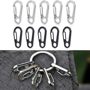 10PCS-Survival-Outdoor-Carabiner-Snap-Clips-Hook-Key-Chain-Zinc-Alloy-Equipment