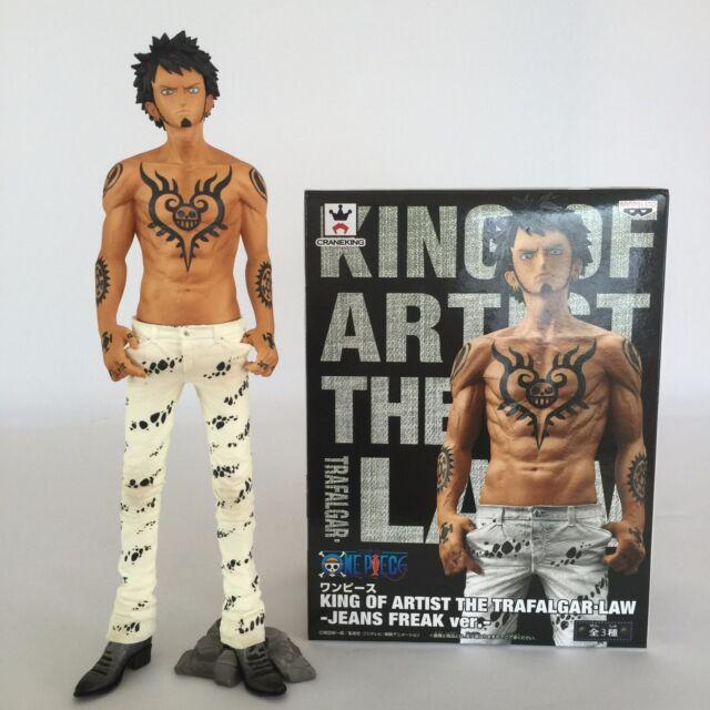 Banpresto One Piece King of Artist Trafalgar Law Figure Jeans Freak ver White