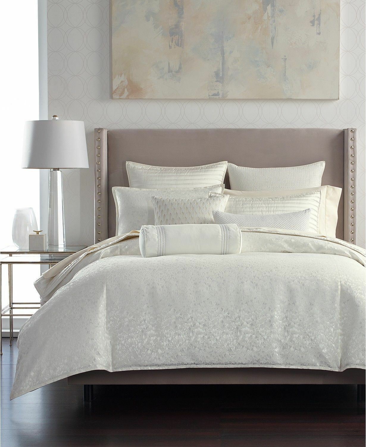 New Hotel Collection Plume Off White Full Queen Comforter