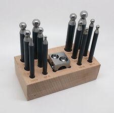 12 bouterolles en acier + dé carré - fabrication bijoux, outils de bijoutier