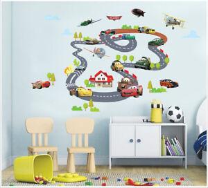 Details zu Wandaufkleber Wandtattoo Wandsticker Auto Rennen Cars Auto  Flugzeug Kinderzimmer