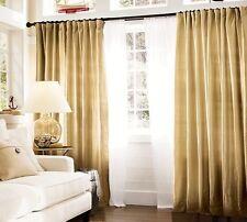 "Pottery Barn Dupioni Silk Curtains 104"" width X 103"" length 2 Panels Wheat"