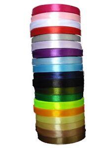 Satin-Ribbon-20-Colours-5m-x-5-034-or-13mm-wide-DIY-Wedding-Crafts-scrapbook