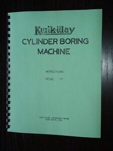 Kwik-Way-Model-F-Boring-Bar-Instruction-Manual
