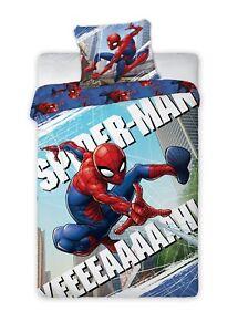 Spiderman-parure-de-lit-housse-de-couette-140x200-Taie-70x90-cm