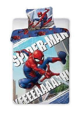 Microfibre 135 x 200 cm ZZALL Spiderman Parure de lit 3 pi/èces avec Housse de Couette et 2 taies doreiller 100/% Microfibre avec Fermeture /Éclair Spiderman 01