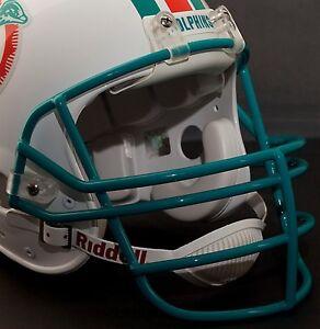 DAN-MARINO-MIAMI-DOLPHINS-Schutt-JOP-Football-Helmet-FACEMASK-LIGHT-AQUA