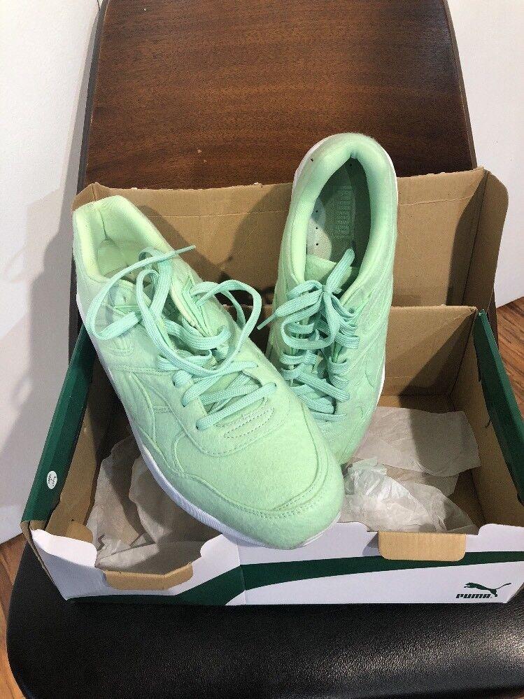Puma r698 / brillante trinomic Hombre zapatillas / r698 Casual zapatos retro - verde menta 2d75f4