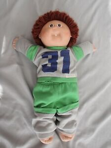 Cabbage Patch Kids Boy With Brown Hair Brown Eyes 31 Sweats Outfit Ebay