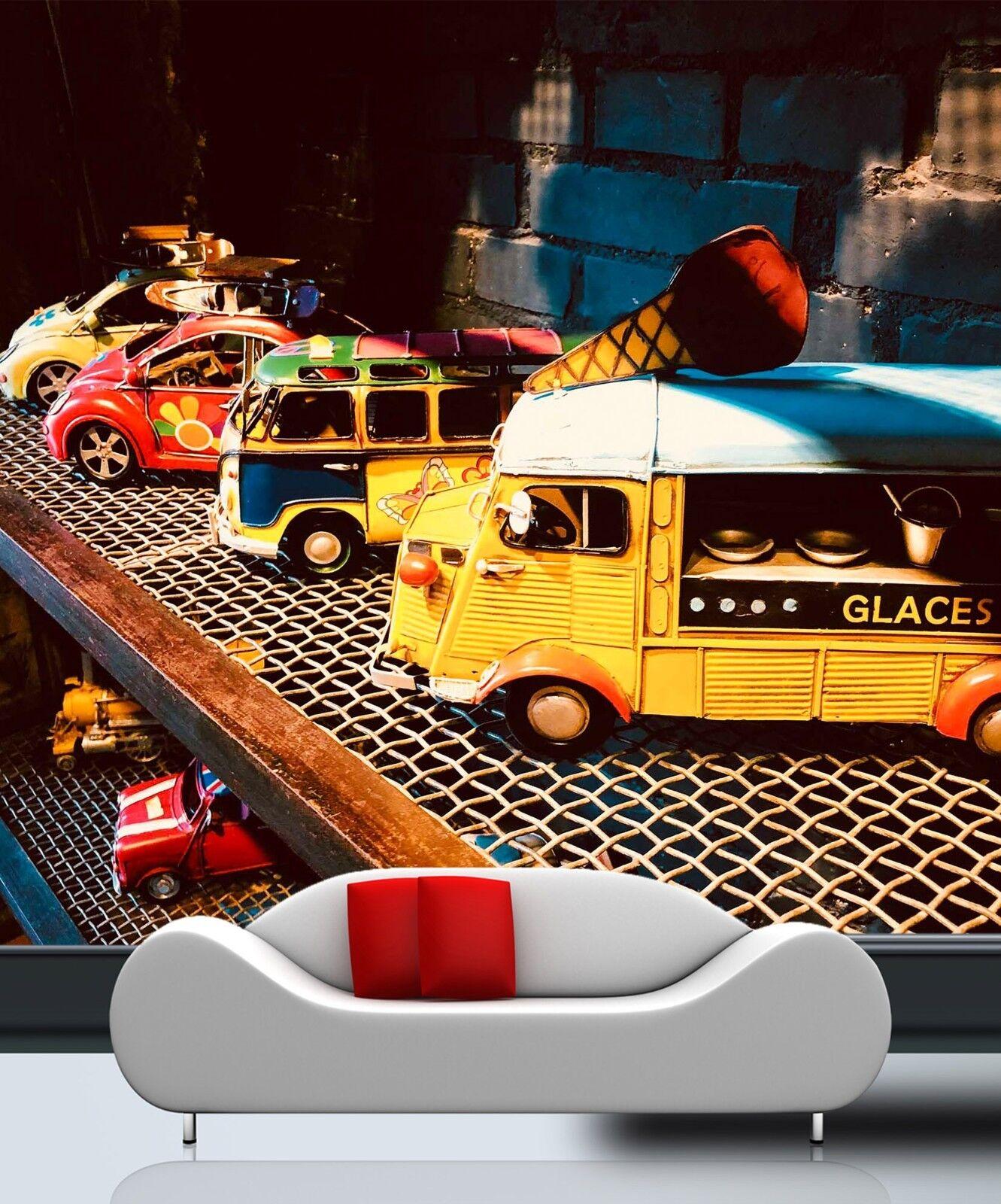 3D Cartoon Car 43 Wall Paper Wall Print Decal Wall AJ WALLPAPER CA