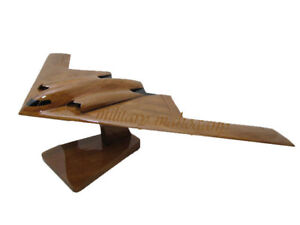 USAF Air Force Northrop Grumman B-2 Spirit Stealth Bomber Wood Wooden Model New