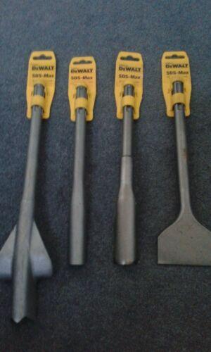 dewalt elu sds max 4 piece flat hollow chisel set for d25501 d25601 d25721 dw545