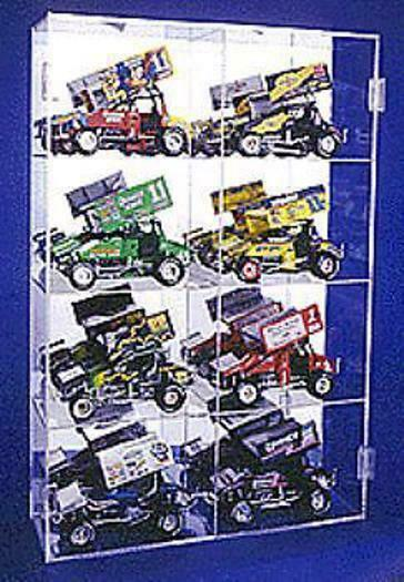 Diecast Display Case Acrylic 1 18 Sprint Car Holds 8 Made in USA New in Box