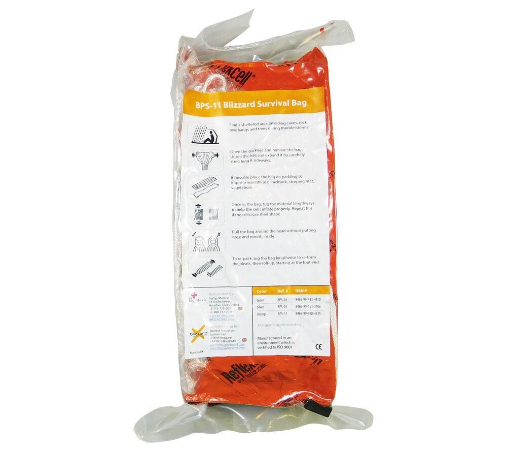 Blizzard Survival Bag orange PerSys Medical Mil Spec Space Age Survival Shelter