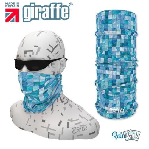 G373 Blue Squares Headgear Neckwarmer multifunctional Bandana Headband Giraffe
