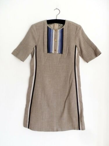 Dress Woven amp; Beige Blue Jigsaw Small xOSBw7Iq