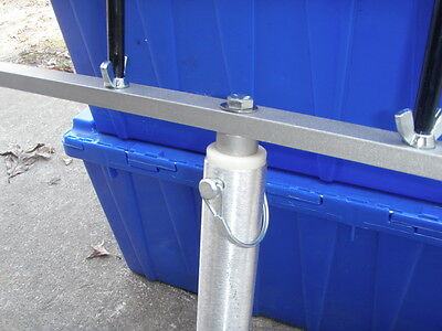 "24/""  adjustable T-bar W// stainless steel post /& 4 coated holders Reel Fisherman"
