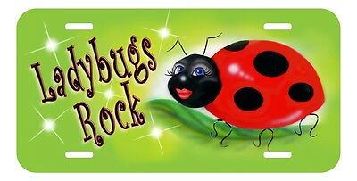 Ladybug Sweetie Auto License Plate Personalize Gifts Ladies Name Lime Green