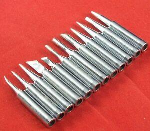12pcs Soldering Iron Tips 900M-T For Hakko 936//937//928 Soldering Station TK