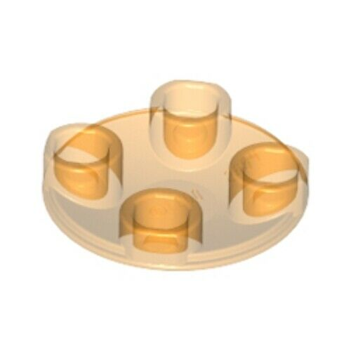 LEGO NEW 4278412 Slide Shoe Round 2x2 6 Clear Parts 54196