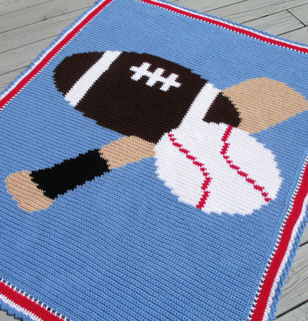 Sports Balls Color Graph Afghan Pattern Ebay