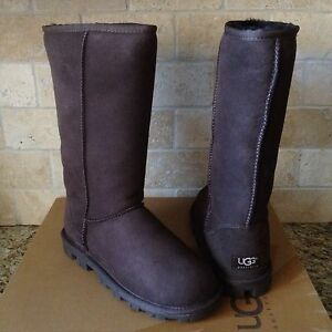 de2a2513039 Details about UGG Classic Tall Essential Chocolate Brown Suede Wool Boots  Size US 9 Womens